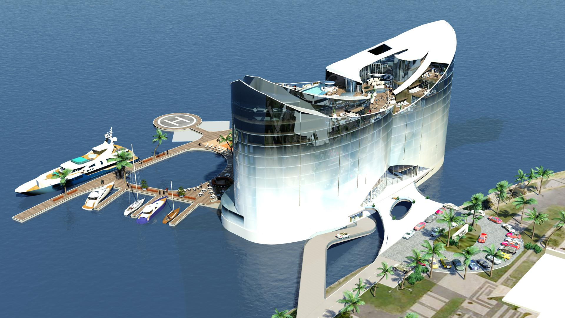 The floating hotel concept bluetech finland for Hotel concepts